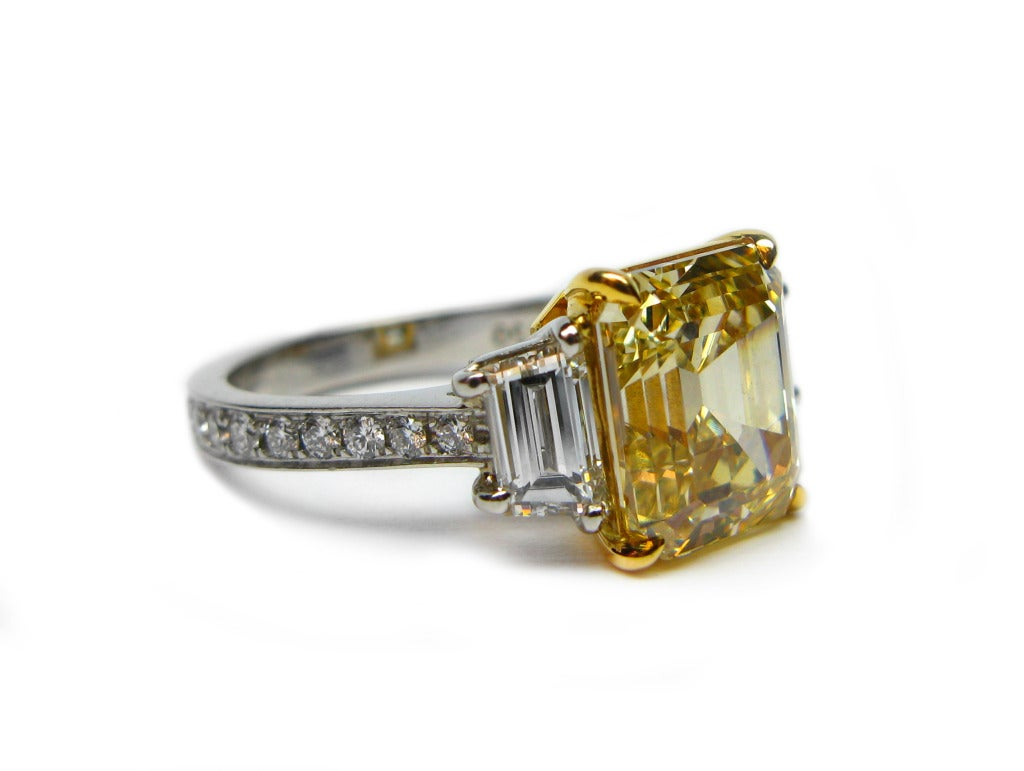 Fancy Brownish Yellow 441carat Asscher Diamond Ring Gia. 4 Carat Canary Diamond Engagement Rings. Kanye Cost Engagement Rings. High Engagement Rings. Hipster Rings. Imitation Engagement Rings. Fabulous Rings. Synthetic Diamond Wedding Rings. Small Stone Wedding Rings