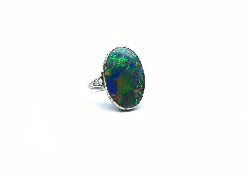 Art Deco Opal Ring 2
