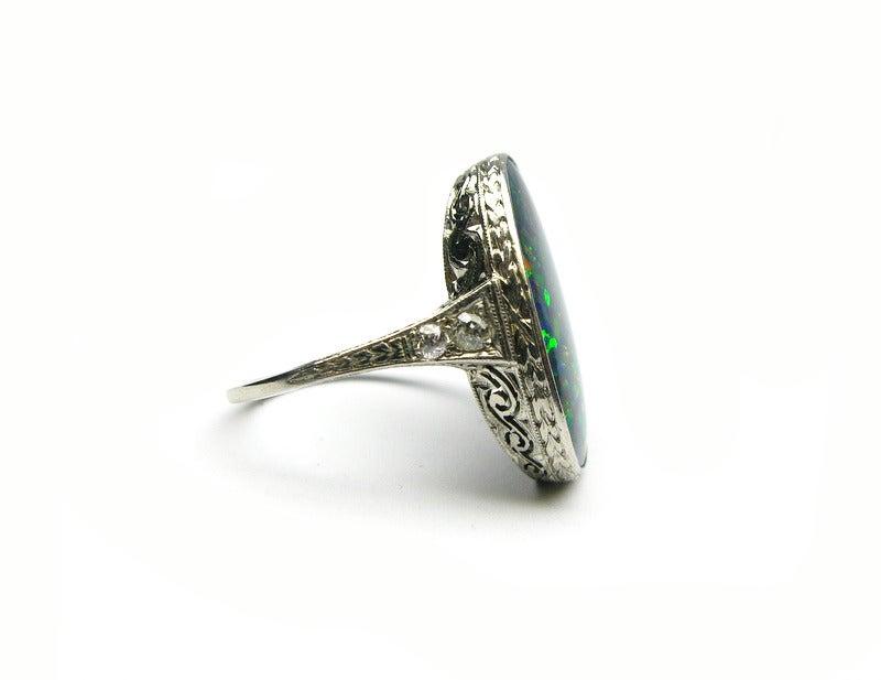 Art Deco Opal Ring 3