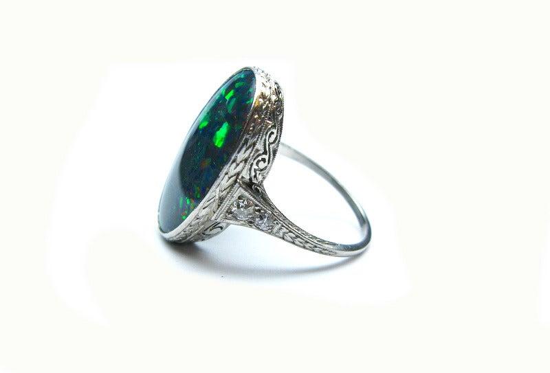 Art Deco Opal Ring 4