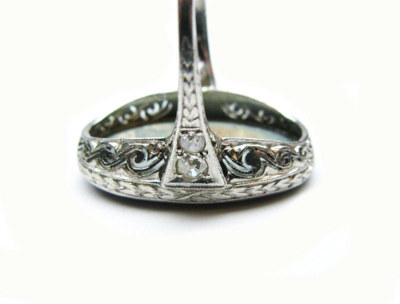 Art Deco Opal Ring 6