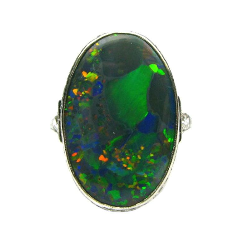 Art Deco Opal Ring 1