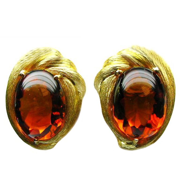 The Collection by Henry Dunay Cabachon Citrine Earrings