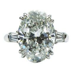 HARRY WINSTON Five Carat Oval Diamond Ring