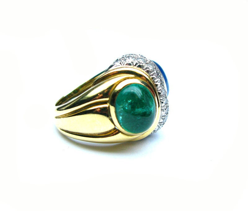 david webb sapphire and emerald ring image 3