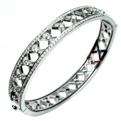 Diamond Trellis Bangle