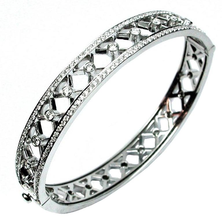 Diamond Trellis Bangle