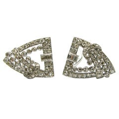 2.50ctw Art Deco Diamond Clips
