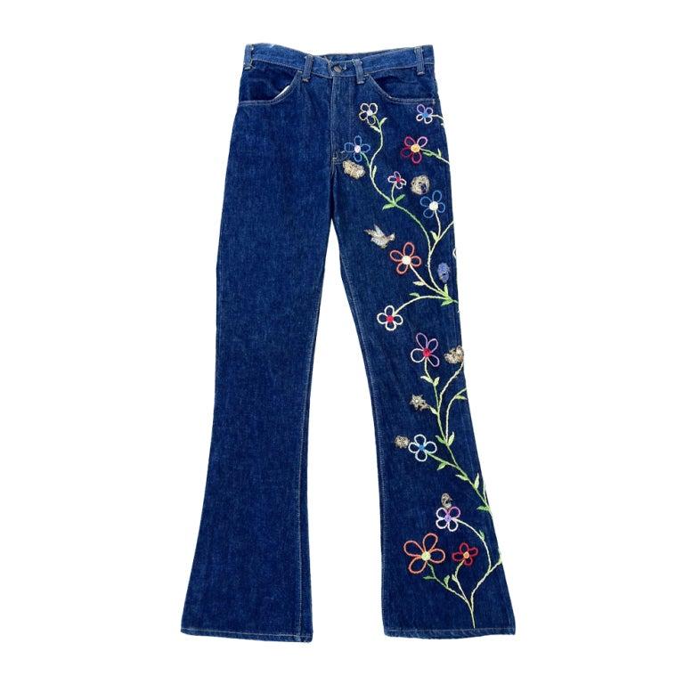William de lillo s embroidered levi jeans ca at stdibs