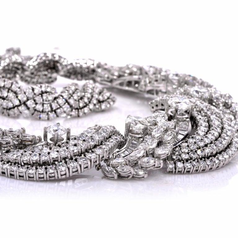 Impressive Diamond Scroll Formal Necklace 4