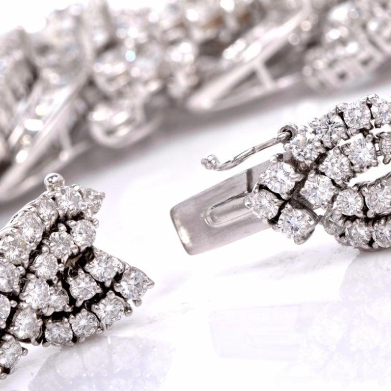 Impressive Diamond Scroll Formal Necklace 5