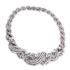 Impressive Diamond Scroll Formal Necklace