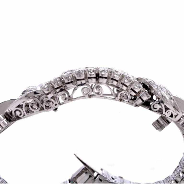 1950s Diamond Wide Platinum Bracelet image 5