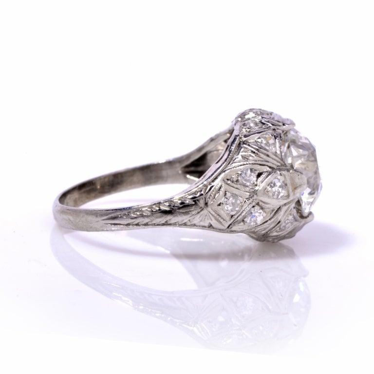 antique deco platinum engagement ring at 1stdibs