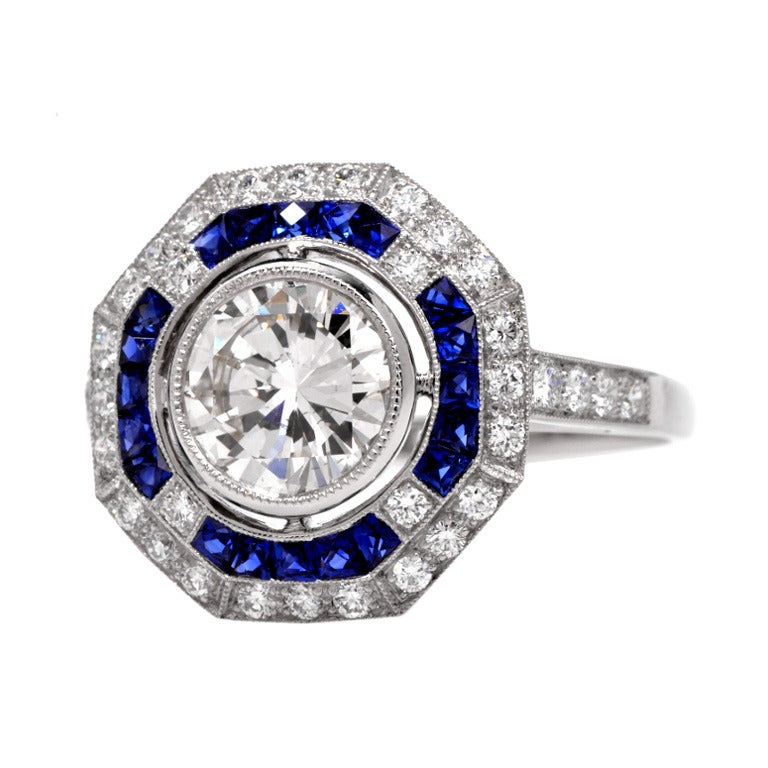 2 62cts sapphire platinum engagement ring at 1stdibs