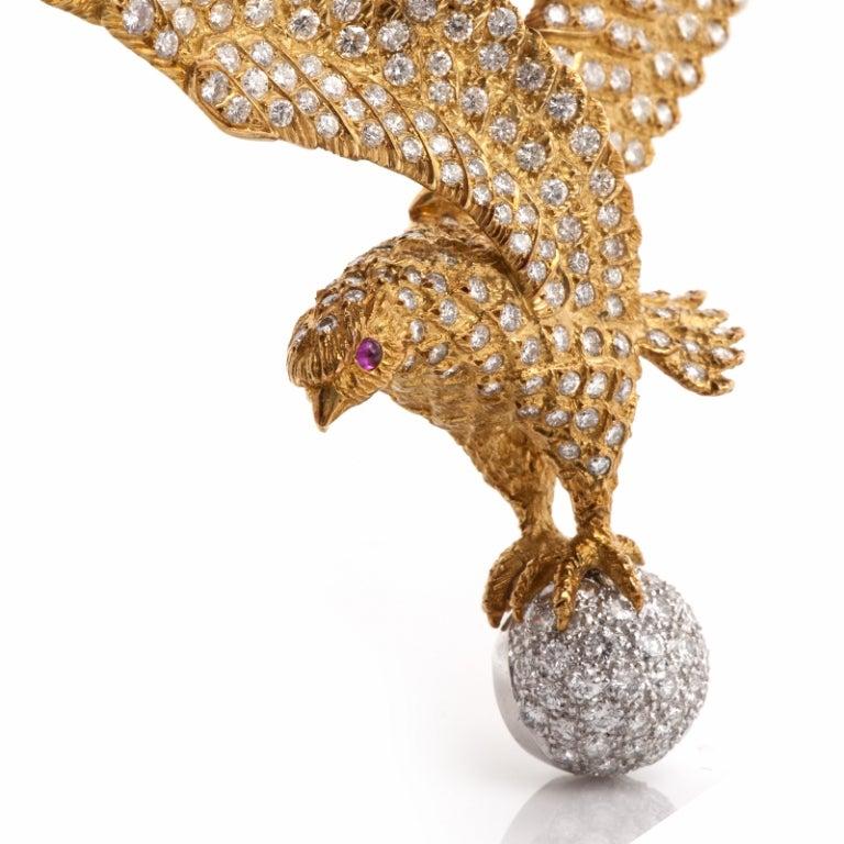 Lalaounis  Diamond Eagle Gold Necklace 4