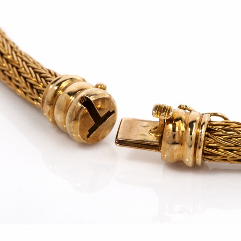 Lalaounis  Diamond Eagle Gold Necklace 8