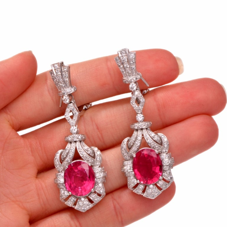 pink tourmaline gold drop earrings at 1stdibs