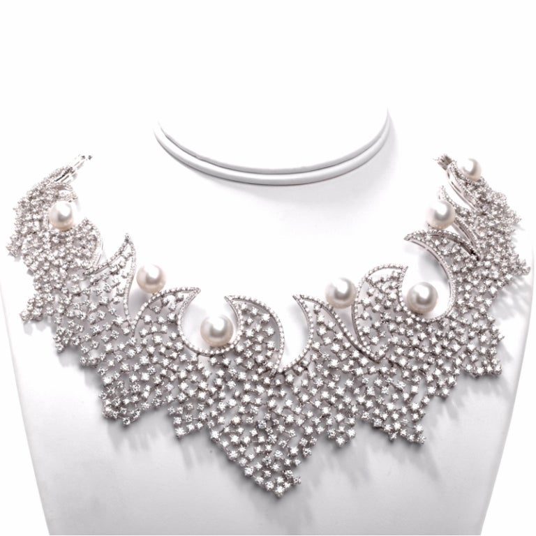 Stefan Hafner Pearl Diamond Gold Necklace 2