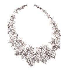 Stefan Hafner Pearl Diamond Gold Necklace