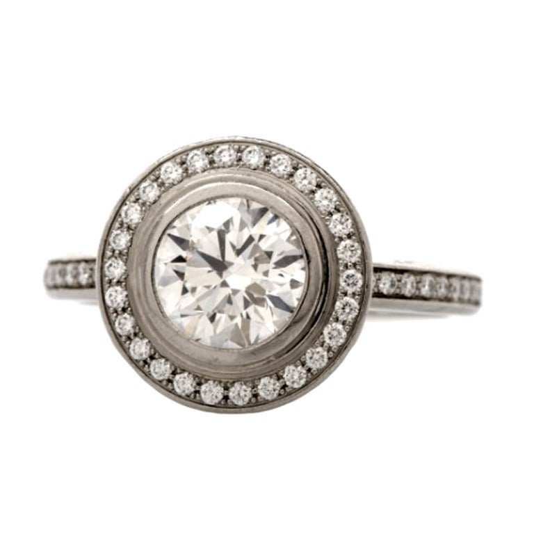 cartier d amour platinum engagement ring at 1stdibs