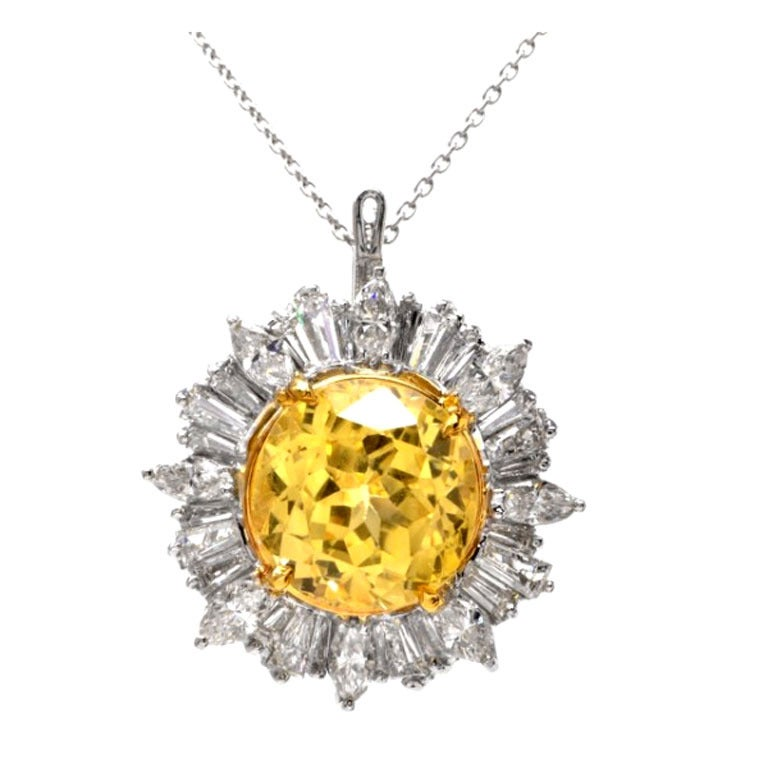 yellow sapphire necklace - photo #40