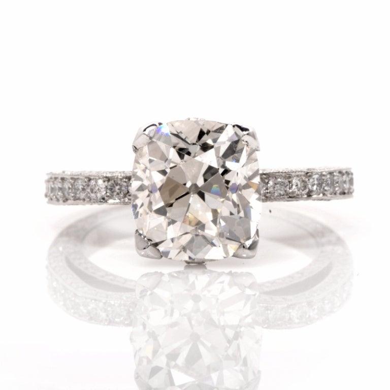 Beaudry Diamond Platinum Engagement Ring 2