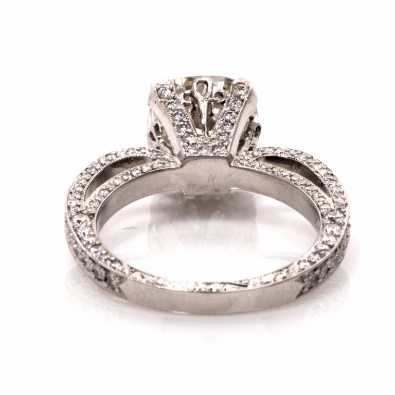 Beaudry Diamond Platinum Engagement Ring 4