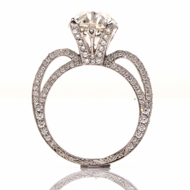 Beaudry Diamond Platinum Engagement Ring 5