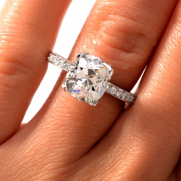 Beaudry Diamond Platinum Engagement Ring 6