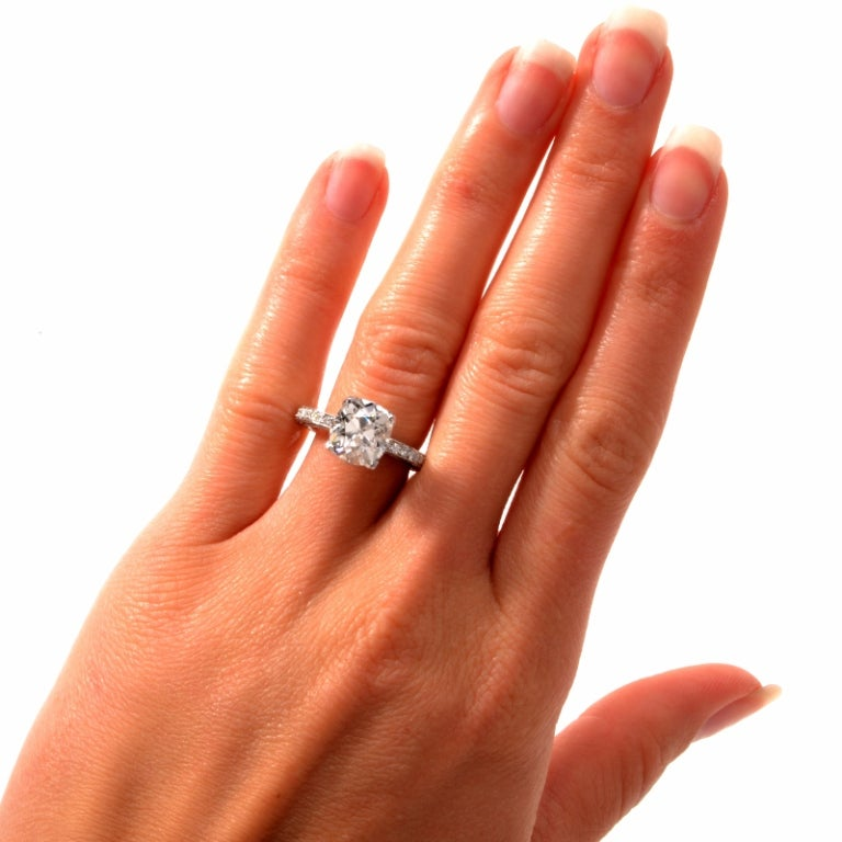 Beaudry Diamond Platinum Engagement Ring 7