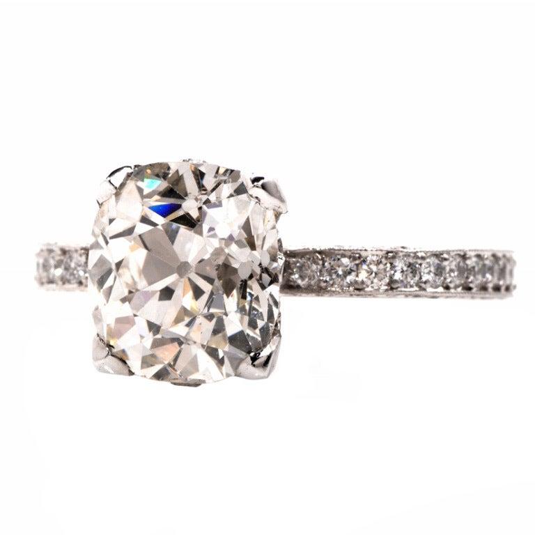Beaudry Diamond Platinum Engagement Ring 1