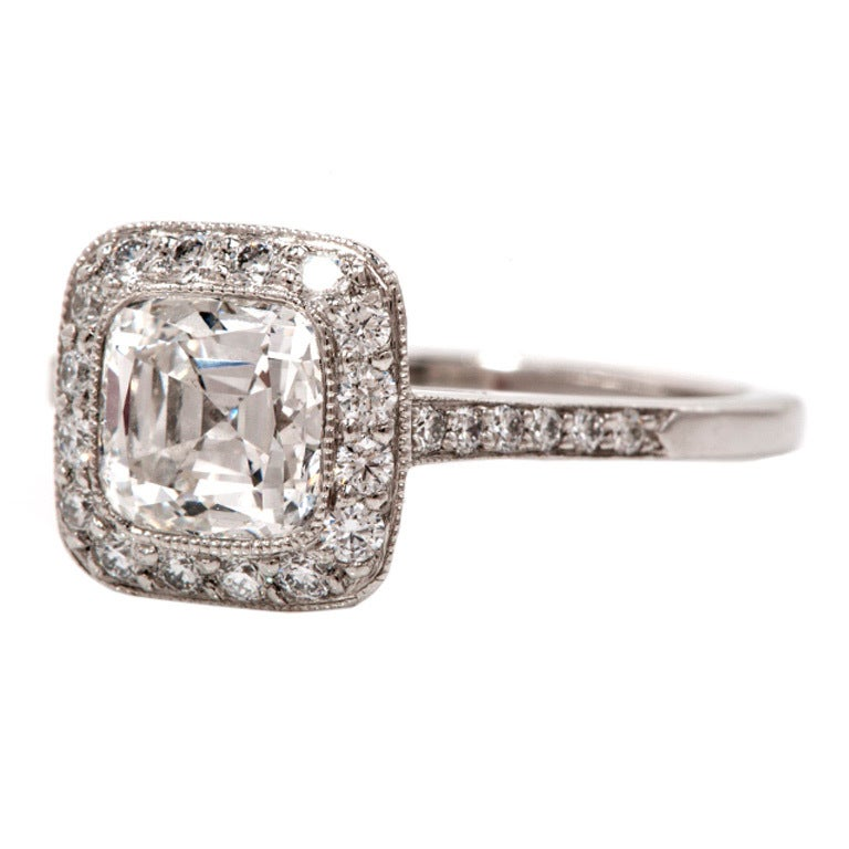 Tiffany and Co Legacy Diamond Platinum Engagement Ring at 1stdibs