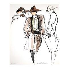 Antonio Lopez - Armani for Vogue