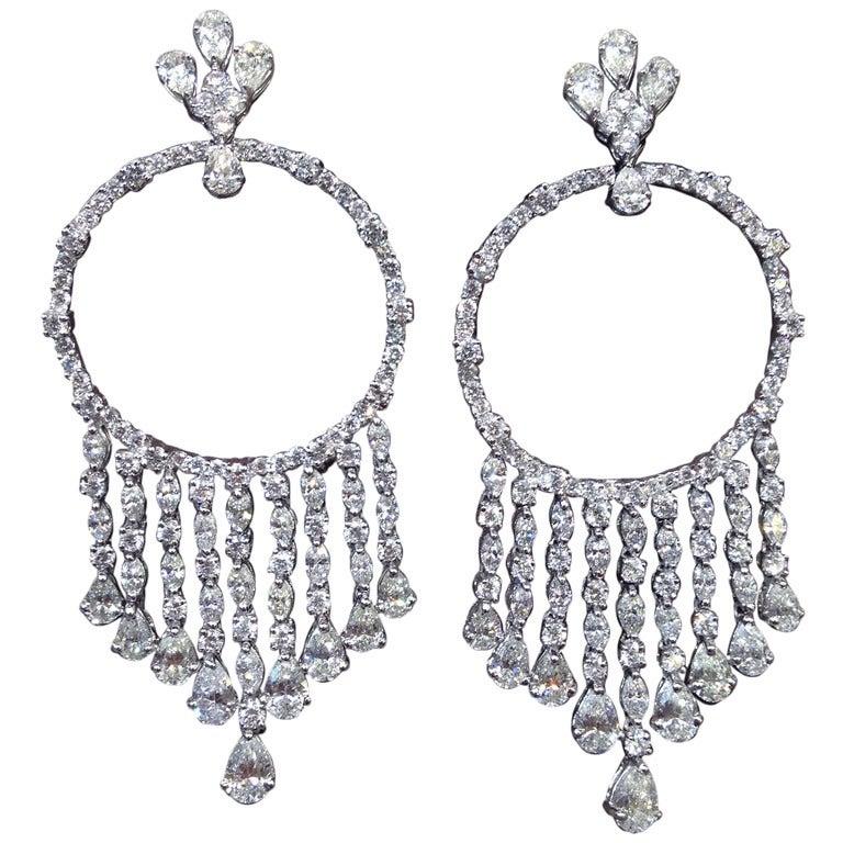 circle dangle chandelier earrings at 1stdibs