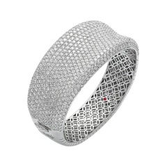 Roberto Coin Fantasia Collection White Diamond Pave Bangle
