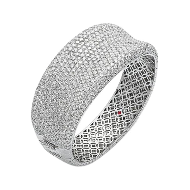 Roberto Coin Fantasia Collection White Diamond Pave Bangle For Sale