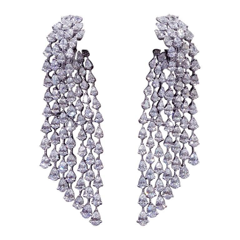 Fashion Diamond Chandelier Earrings 1