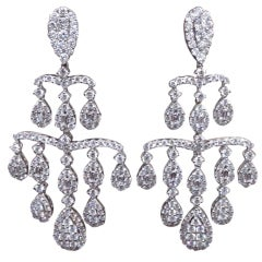 Classic Diamond Chandelier Dangle Earrings