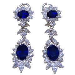 Classic Sapphire and Diamond Earrings