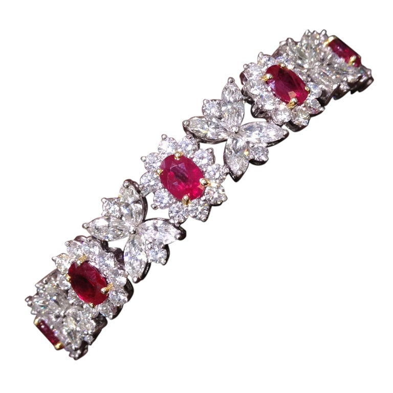 Classic Ruby And Diamond Bracelet At 1stdibs