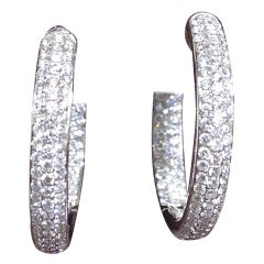 Beautiful Pave Diamonds In and Out Hoops