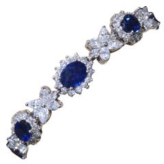 Classic Sapphire and Diamond Bracelet