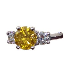 Unique GIA Certified Fancy Deep Brown Orangy Yellow Diamond Ring