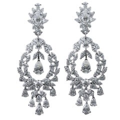 Campanelli and Pear Diamond Chandelier Drop Earrings For Sale at ...