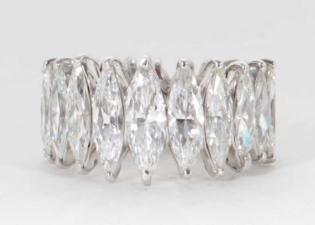 Unique Graduated Marquise Diamond Eternity Band set in Platinum 3
