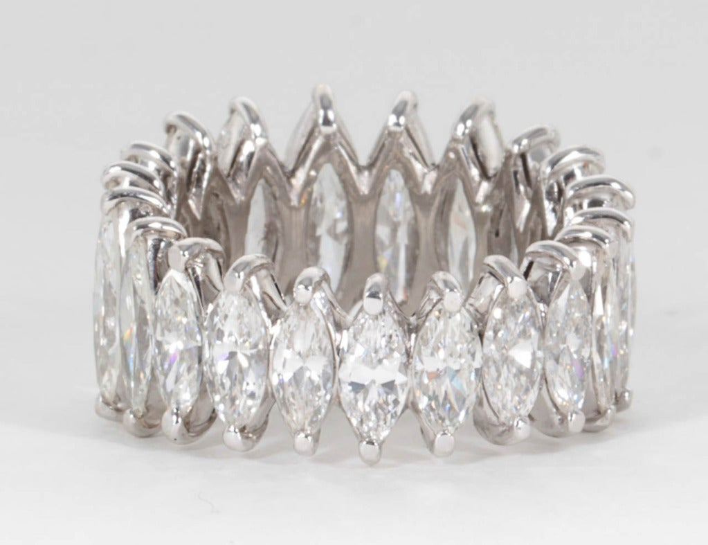 Unique Graduated Marquise Diamond Eternity Band set in Platinum 5