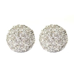 Diamond Button Earrings, Princess Grace of Monaco Family