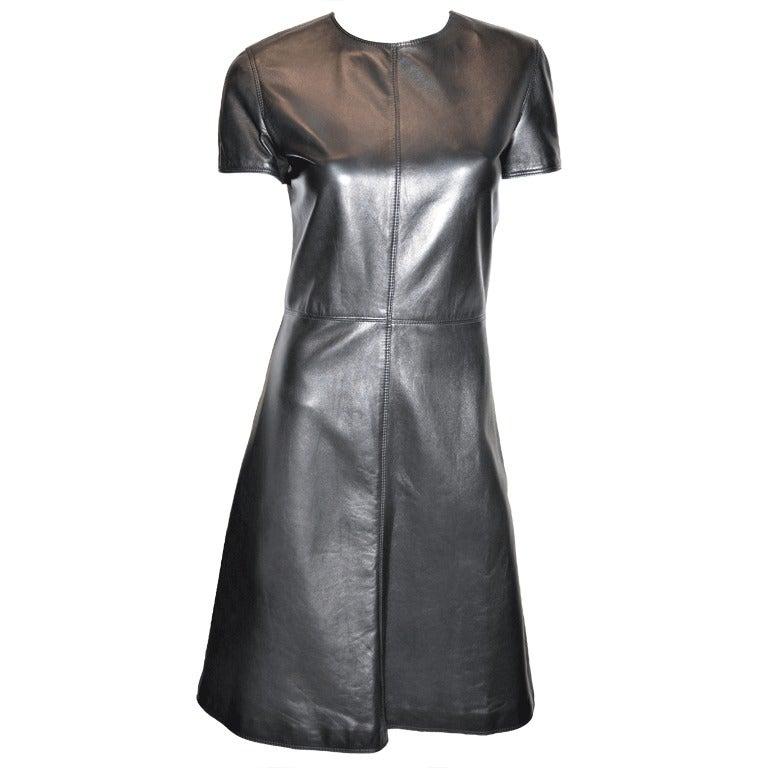 Gianni Versace Leather Dress 1