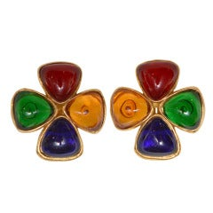 1989 Vintage Chanel Gripoix Earrings